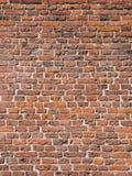 Teil der alten mittelalterlichen Ziegelsteinmaurerarbeit der Wand Stockbild