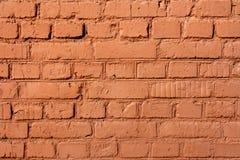 Teil der alten Wand des roten Backsteins Stockbild
