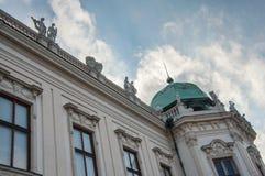 Teil der Belvederefassade in Wien lizenzfreie stockfotografie
