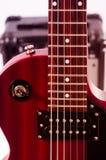 Teil der E-Gitarre auf weißem Hintergrund Alte Art Lizenzfreies Stockbild