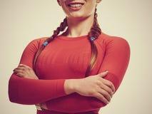 Teil der lächelnden athletischen Frau Lizenzfreie Stockfotos