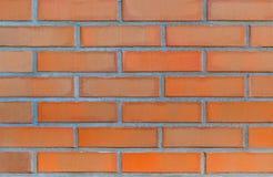 Teil der modernen Ziegelsteinmaurerarbeit des roten Lehms Lizenzfreies Stockbild