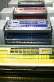 Teil der Offsetdruckenmaschine Stockfoto