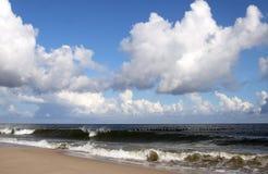 Teil der polnischen Küstenlinie. Stockbild