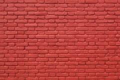 Teil der Rot gemalten Backsteinmauer Stockbilder