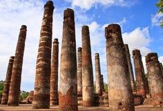 Teil der Ruine von Wat Mahathat in Sukhothai stockbilder