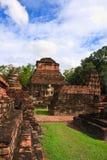 Teil der Ruine von Wat Mahathat in Sukhothai lizenzfreies stockfoto