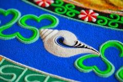 Teil der sandigen Mandala Lizenzfreies Stockfoto
