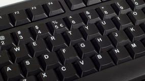 Teil der schwarzen Computertastatur Lizenzfreies Stockfoto