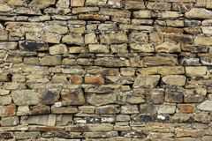 Teil der Steinwand Lizenzfreie Stockfotografie