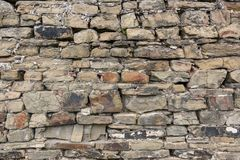 Teil der Steinwand von Stockbild