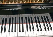 Teil der Tastatur des großartigen Klaviers lizenzfreies stockbild