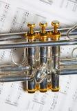 Teil der Trompete Lizenzfreie Stockfotos