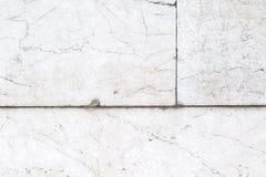 Teil der weißen Blockwand Stockfoto