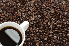 Teil der weißen Kaffeetasse Lizenzfreies Stockbild