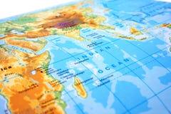 Teil der Weltkarte Lizenzfreie Stockfotografie