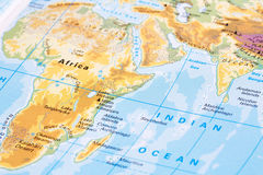 Teil der Weltkarte Stockfotos