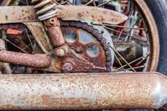 Teil des alten Motorrades Lizenzfreie Stockbilder