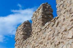 Teil des alten Ziegelsteines und der Steinwand Lizenzfreie Stockfotografie