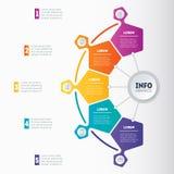 Teil des Berichts mit den Ikonen eingestellt Vektor infographic vom technol Lizenzfreie Stockbilder