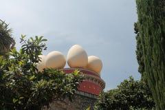 Teil des Dachs des Museums Salvadors Dalà lizenzfreies stockbild