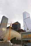 Teil des Flügels der WTC-Transport-Nabe und des Finanzbezirkes Stockbild