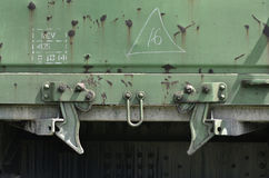 Teil des Fracht Railcar Stockfoto