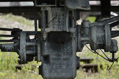 Teil des Fracht Railcar Lizenzfreie Stockfotografie