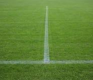 Teil des Fußballplatzes Stockbild