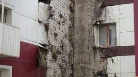Teil des Gebäudes beschädigt durch Feuer stock footage