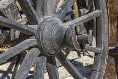 Teil des hölzernen Rades Stockbild