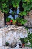 Teil des mittelalterlichen bulgarischen Hauses Stockbild