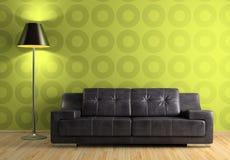 Teil des modernen Innenraums mit Sofa und Lampe vektor abbildung