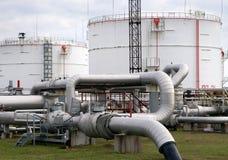 Teil des Raffineriekomplexes Lizenzfreies Stockbild