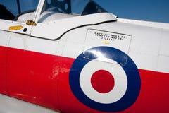 Teil des Rumpfs eines alten Flugzeuges Stockbilder
