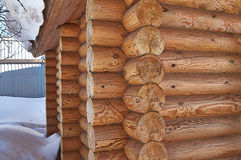 Teil des russischen ländlichen Hauses der Wände. Lizenzfreie Stockfotografie