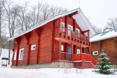 Teil des russischen ländlichen Hauses der Wände Lizenzfreie Stockbilder