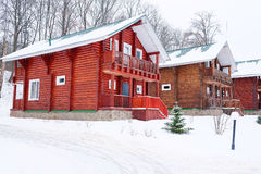Teil des russischen ländlichen Hauses der Wände Lizenzfreie Stockfotografie