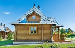Teil des russischen ländlichen Hauses der Wände Lizenzfreies Stockfoto