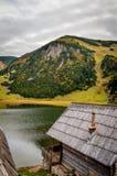 Teil des russischen ländlichen Hauses der Wände Lizenzfreie Stockfotos
