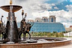 Teil des Stadtbilds von neuem Astana lizenzfreies stockfoto