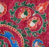 Teil des traditionellen Usbekstickereimusters Stockbilder