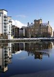 Teil des Ufers, Leith Docks, Edinburgh Lizenzfreie Stockfotografie