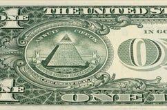 Teil des Umsatzes der Banknote 1 Dollar Stockfoto