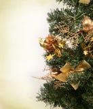 Teil des Weihnachtsbaums Stockfotos