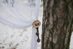 Teil des Winterhochzeitsbogens Lizenzfreies Stockbild