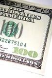 Teil Dollarscheins des US-100 Stockfotos