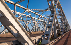 Teil einer alten holländischen Binderbrücke Stockbild