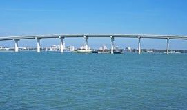 Teil einer Brücke im Bay-Bereich Stockbild