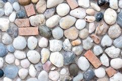 Teil einer Steinwand, für Hintergrund oder Beschaffenheit Stockbilder